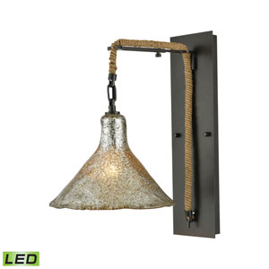 Hand Formed Glass Oil Rubbed Bronze 10-Inch LED Wall Sconce
