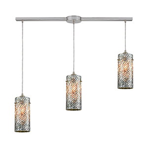 Capri Satin Nickel 38-Inch Three-Light Pendant