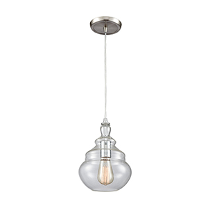 Tabor Polished Chrome One-Light Mini Pendant