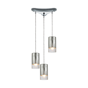 Tallula Polished Chrome 60W Three-Light Pendant