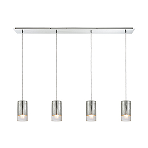 Tallula Polished Chrome 60W Four-Light Pendant
