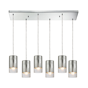 Tallula Polished Chrome 60W Six-Light Pendant