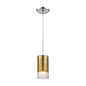 Tallula Gold Plated Four-Inch One-Light Mini Pendant