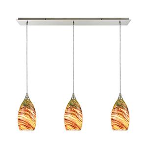 Collanino Satin Nickel Three-Light Pendant