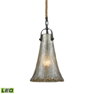 Hand Formed Glass Oil Rubbed Bronze LED Mini Pendant