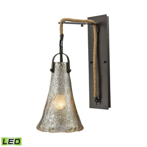 Hand Formed Glass Oil Rubbed Bronze LED Wall Sconce