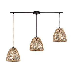 Coastal Inlet Oil Rubbed Bronze Three-Light Pendant