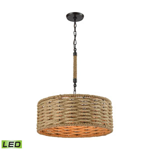 Weaverton Oil Rubbed Bronze LED Pendant