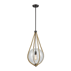 Dangling Rope Oil Rubbed Bronze One-Light Pendant