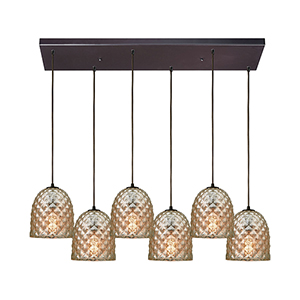 Brimley Oil Rubbed Bronze Six-Light Pendant