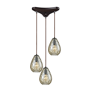 Lagoon Oil Rubbed Bronze 60W Three-Light Pendant