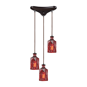 Giovanna Oil Rubbed Bronze 60W Three-Light Pendant