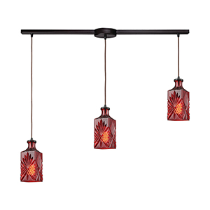 Giovanna Oil Rubbed Bronze Three-Light Pendant
