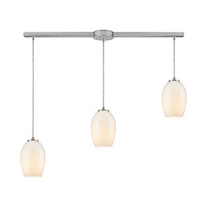 Villiska Satin Nickel Three-Light Pendant