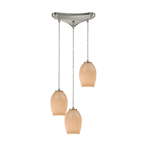 Villiska Satin Nickel Three-Light Pendant