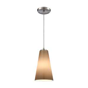 Connor Satin Nickel One-Light Mini Pendant