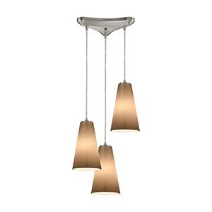 Connor Satin Nickel 60W Three-Light Pendant