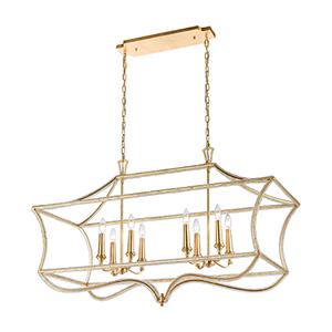 La Rochelle Parisian Gold Leaf Eight-Light Pendant
