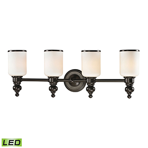 Bristol Oil Rubbed Bronze Four-Light LED Vanity Light