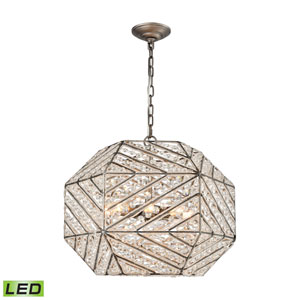 Constructs Weathered Zinc 20-Inch LED Chandelier