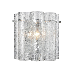 Glass Symphony Polished Chrome One-Light Wall Sconce