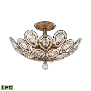 Evolve Weathered Zinc 19-Inch LED Semi Flush Mount