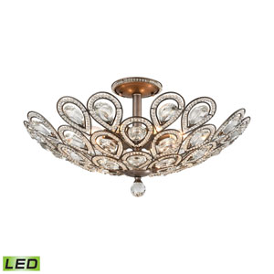 Evolve Weathered Zinc 24-Inch LED Semi Flush Mount