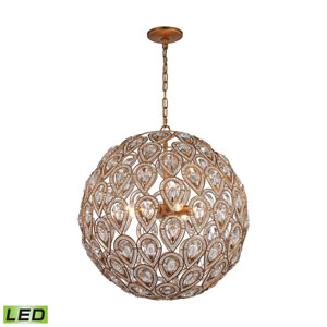 Evolve Matte Gold LED Chandelier