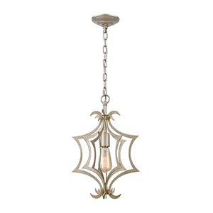 Delray Aged Silver One-Light Pendant