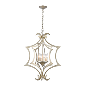 Delray Aged Silver Six-Light 21-Inch Pendant