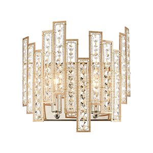 Equilibrium Matte Gold and Polished Nickel Two-Light ADA Wall Sconce