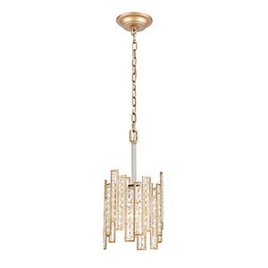 Equilibrium Matte Gold and Polished Nickel One-Light Mini Pendant