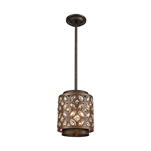 Rosslyn Mocha and Deep Bronze One-Light Mini Pendant