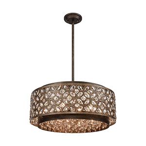 Rosslyn Mocha and Deep Bronze Six-Light Pendant