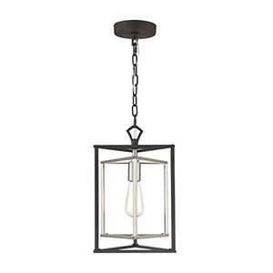 Salinger Charcoal and Satin Nickel One-Light Pendant