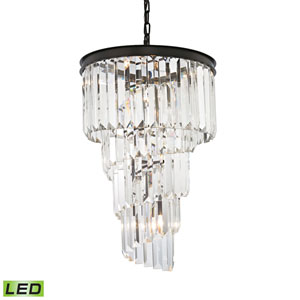 Palacial Oil Rubbed Bronze 16-Inch LED Chandelier