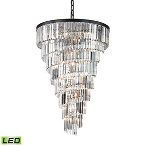 Palacial Oil Rubbed Bronze 36-Inch LED Chandelier