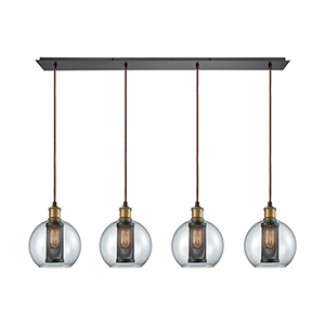 Bremington Oil Rubbed Bronze Four-Light Pendant