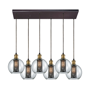 Bremington Oil Rubbed Bronze Six-Light Pendant