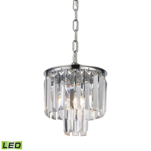 Palacial Polished Chrome LED Mini Pendant