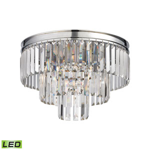 Palacial Polished Chrome 19-Inch LED Flush Mount