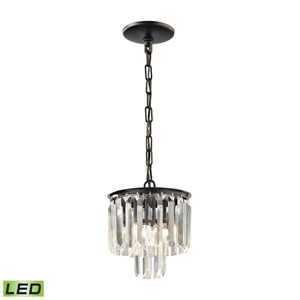 Palacial Oil Rubbed Bronze Eight-Inch LED Mini Pendant