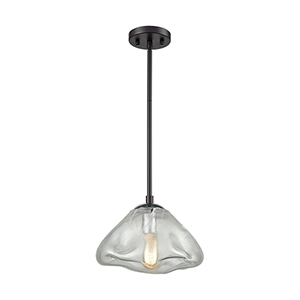 Kendal Oil Rubbed Bronze and Polished Chrome One-Light Pendant