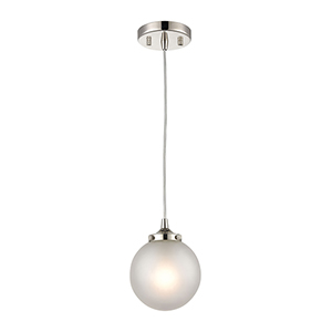 Boudreaux Polished Nickel One-Light 6-Inch Mini Pendant