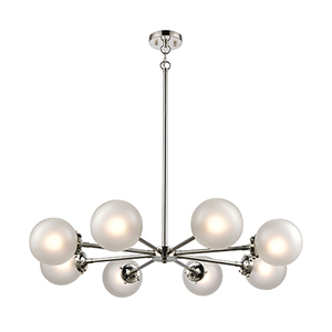 Boudreaux Polished Nickel Eight-Light Chandelier