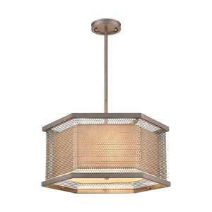 Crestler Weathered Zinc and Polished Nickel Three-Light Chandelier