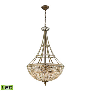 Elizabethan Dark Bronze 22-Inch LED Chandelier