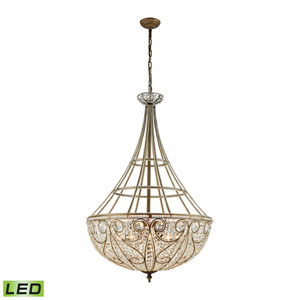 Elizabethan Dark Bronze 28-Inch LED Chandelier