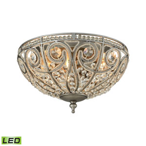 Elizabethan Weathered Zinc 13-Inch LED Flush Mount