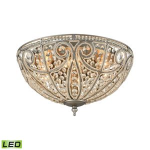 Elizabethan Weathered Zinc 17-Inch LED Flush Mount